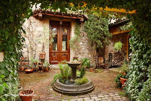 Tuscan Farmhouse Entry